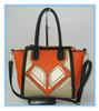 Lady handbag hard handbag matched bag handle shoulder bag Guangzhou handbag factory