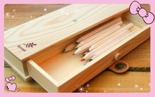 New recycle customized small luxury wooden pencil gift box