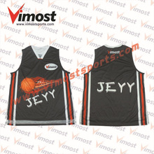 Reversible mesh blank basketball uniforms double sides,costum printed sports wear basketball jersey