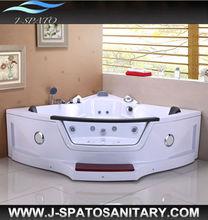Retail Enamel Teak 2 Seats Air Bubble Bath Bathtub