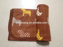 best price high quality brushed custom Fashion Korean pony animal print polar fleece knee blanket