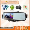 Rearview mirror Navigation/Wifi/BT/Back Camera/Android motorcycle dvr camera