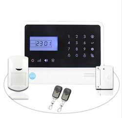 Factory Low cost! Wireless home security alarm, telephone GSM based alarm system with 4 relay switches by APP
