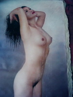 Handpainted nude sexy wall art painting For Livingroom Oil Painting With Frames Stretched Home Decoration