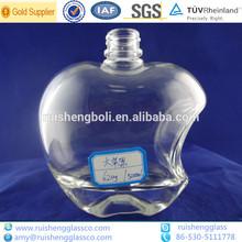 500ml big apple shaped clear glass wine bottles