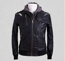 Wholesale Fashion Mens Clothing Letterman Jacket Slim Cheap Turkish Leather Jacket With Hooded