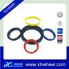 Colorful aluminum wheel hub centric rings