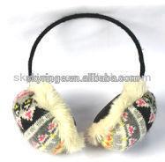 Fashion Stereo plush winter earmuff headphone,headset