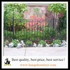 Powder-coated hot-dipped galvanized wrought iron fence cheap