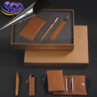 High quality buiness gifts/pu gift bag/pen and key roll with packing box