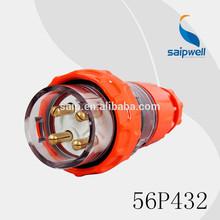 2014 500VAC Adapter Socket 32AMP 4P IP67 Industrial Power Waterproof Electrical Plug(56P432)