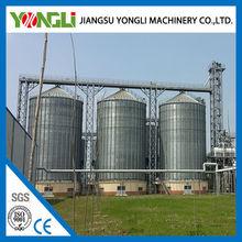 Grain storage steel silos for rice bulk material galvanized steel silo used for sales