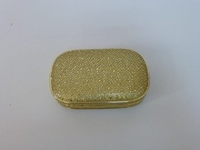 High quality evening bags , France fashion design . genuine leather evening bags lock closure , shining color