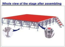 aluminum folding outdoor stage ,modular aluminum stage,stage mobile stage movable stage portable stage