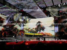Energy saving full color HD LED video display screen longer life span entertainment equipments flexible led curtain