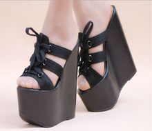 C54835S NEW DESIGN FASHION HIGH HEEL WEDGE SEXY LADIES HIGH HEEL SHOES