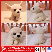 Cuddly plush dog toy stuffed Chihuahua