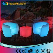 pe LED flashing sofa/ LED armed luminos chair