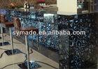 Environmental natural gemstone agate acrylic bathroom vanity stool