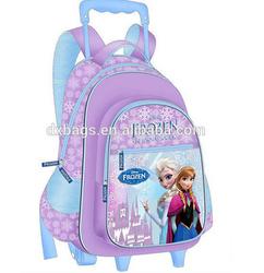 cute frozen kids trolley school bags girls