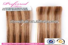 AAAAA grade virgin Brazilian hair tape skin weft hair extenion