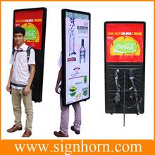 led walking billboard/Human billboard street walkers interesting product