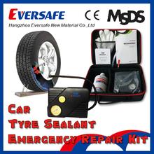 Automobile tire sealant hand tool repair kit