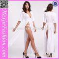 Hexinfashion blanco vestidos ocasionales de las fotos