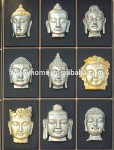 New design cheaper buddha face wall art