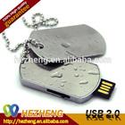 4GB Cheaper Dog Tag USB Flash Drive Metal Laser Pointer USB Pendrive