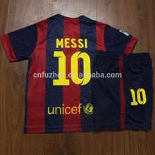 infant kids youth 2014 2015 club barce messi neymar iniesta football camiseta shirt kits soccer camisa jersey 14 15