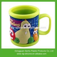 Lovely kids plastic rubber pvc mug