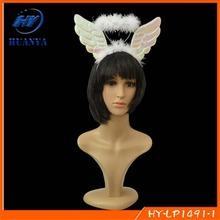 Hallowmas masquerade headband angel crown hair band children feather headband