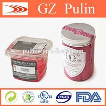 Food packing film, plastic bottle label film
