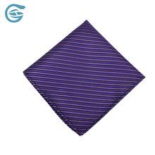 100% Polyester Machine Hemming Handmade Strip Tie And Pocket Square