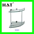Cappello alta- grado parete di vetro bagno mensola angolare