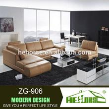 ZG-906# bright colored leather sofa set, armless sofa, 2014 new design sofa furniture