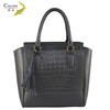 Various color large capacity valuable bag polish 100% real leather cheap handbags direct from china