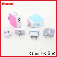 Universal Dual USB Wall Charger promotional gift giveaway ideas