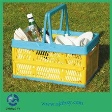 plastic folding basket with handle plastic laundry basket handle