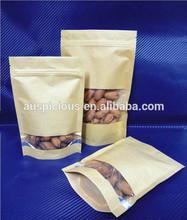 Resealable Zipper Kraft Paper Coffee Bags Food Packaging Bags