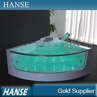 HS-B309 corner use european tub shower arcylic massage bathtub glass