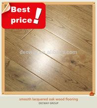 Best price smooth red oak engineered lumber floor
