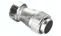 "3/8"" metal hose female plug P40-5E-3/8"" 5 pin plug and socket"