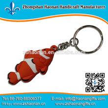red pvc logo with metal keys ring high quality no min order