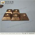 Remache en contacto bimetálico, de cobre de aleación de tungsteno, contactos interruptor eléctrico