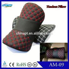 Auto decoration PU car headrest pillow neck pillow neck relaxation cushion