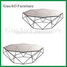 Modern Metal Wire Diamond Side Table