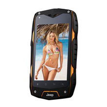 Jeep Z6 Phone IP68 Waterproof 3G GPS smartphone MTK6572 Dual Core 1.2GHZ 4.0'' Screen 512MB 4GB 5MP Shockproof Outdoor phone