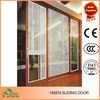 Wood grain roller shutter door sliding door made in China